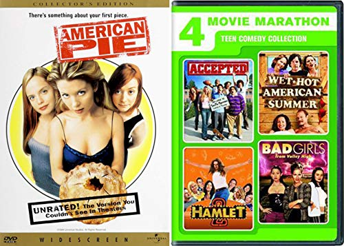Hot Girls Marathon Summer Teen Comedies - American Pie, Hamlet 2 / Accepted / Wet American Camp / Bad Girls from Valley High 5-Comedy DVD Wild Party Bundle ()