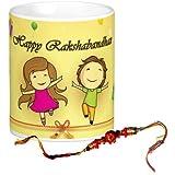 Rakshabandhan Mug With Rakhi - Rakhi Gift For Brother & Sister