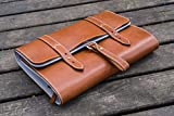 Leather Toiletry Bag or Dopp Kit , Travel Bag - Brown