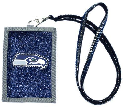 NFL Seattle Seahawks Beaded Lanyard with Nylon Wallet]()