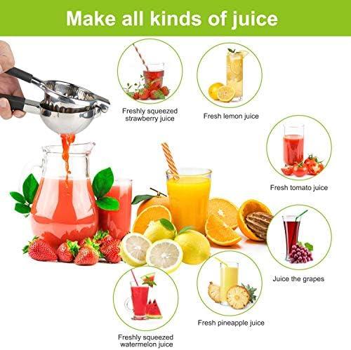 ZRXRY Exprimidor del limón Prensa de la Mano Exprimidor, Espesado de Acero Inoxidable Manual Exprimidor, para extraer el Jugo de limón, UVA, Naranja y Otras Frutas