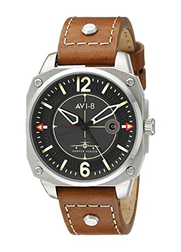AVI-8 Men's AV-4039-02 Hawker Hunter Analog Display Japanese Quartz Brown Watch