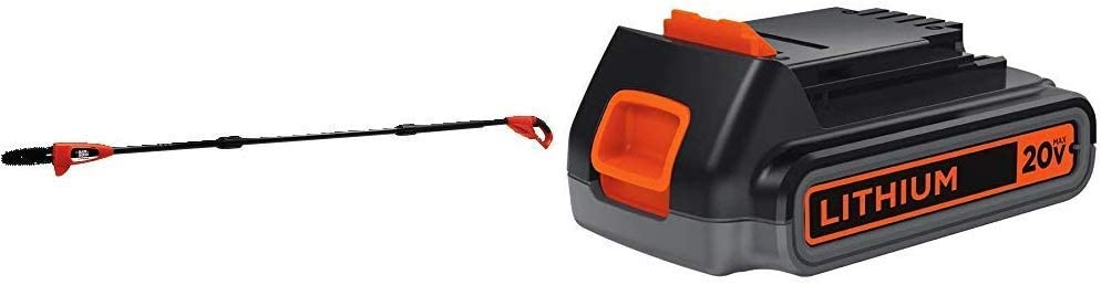 BLACK+DECKER 20V with Lithium Battery Pole Saw - Lightweight