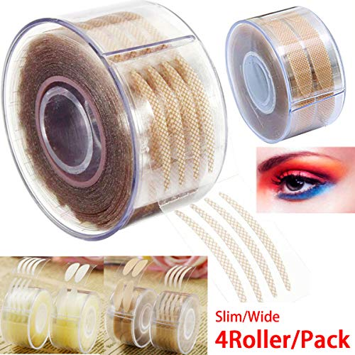 Eye tape double eyelid tape invisible eye stickers natural waterproof eye tape adhesive magic Charm big eye fiber glue tapes 4 Roller + Shaped Fork