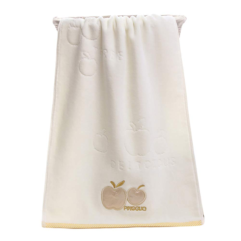 lightclub 35x75cm Cotton Apple Water Absorbent Washing Bathing Shower Cotton Towel Washcloth Yellow
