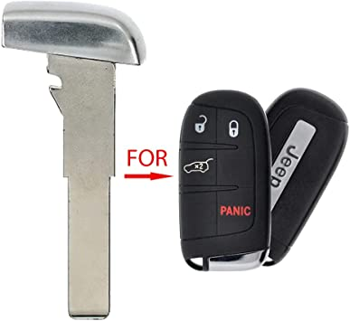 2 Pack 10 New Remote Emergency Key High Security Replacement Blade Insert for Fiat Jeep