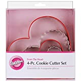 Wilton From The Heart Nesting Cookie Cutter Set, from Bite Sized to 5-inch Heart Cookies, Share the Love of Baking, 4-Piece Set