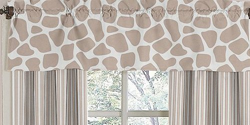 Giraffe Neutral Window Valance