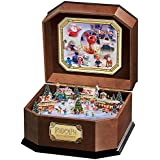 Rudolph The Red-Nosed Reindeer Music Box With Art And 3D North Pole Scene Inside by The Bradford Exchange