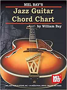 mel bay jazz guitar chord chart william bay 9780786667109 books