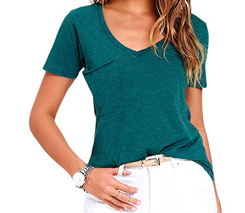 YeeATZ Summer Basic Pocket T-shirt(Blue ,M) (Dream Street The Biggest Fan)