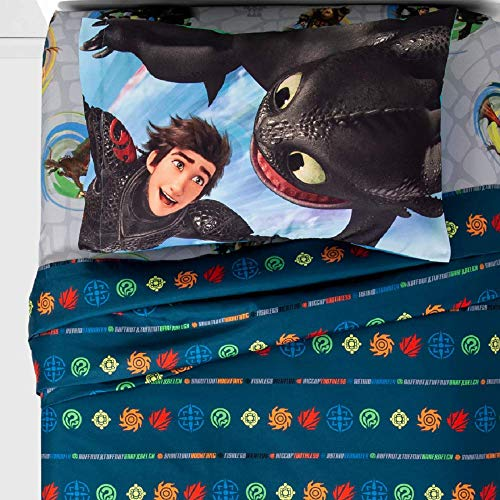 How to Train Your Dragon 3 Piece Twin Sheet Set