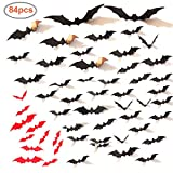 3D Bat Wall Decal Sticker, for Halloween Eve Party And Decoration Decor