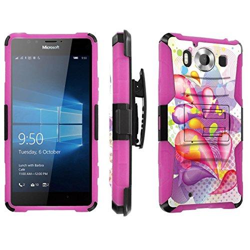 Photo - [SkinGuardz] Case for Microsoft Lumia 950 [Heavy Duty Ultra Armor Tough Case with Holster] - [Spring]