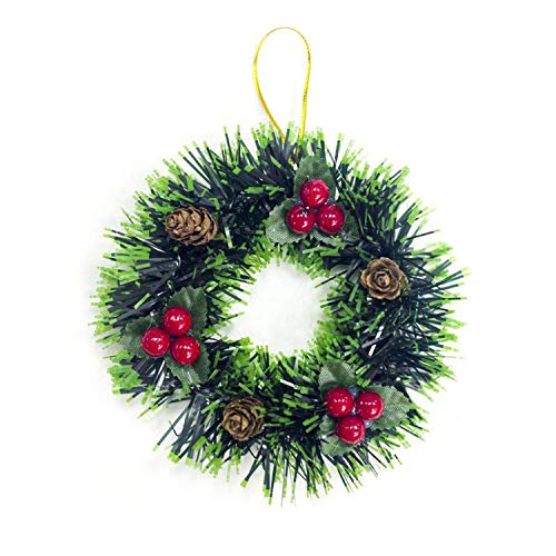 Noon-Sunshine decorative-plaques Simulated Pine Cones Christmas Wreath Christmas Decoration Pendant Xmas Home Decoration, A for $<!--$18.88-->
