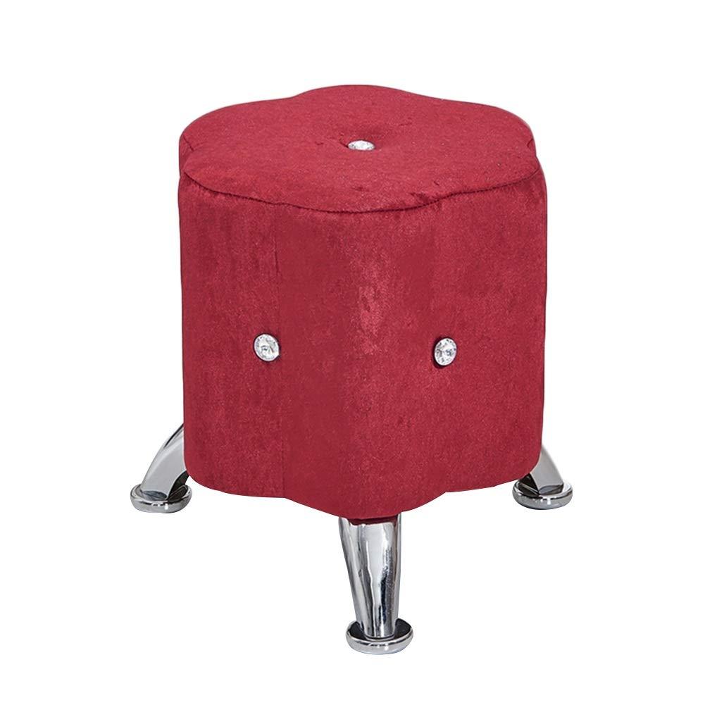 フットスツール 家庭 ヨーロピアンスタイル ソファスツール 生地 滑り止めマット ロースツール、 6色 (色 : 赤, サイズ さいず : 30x30x30cm) 30x30x30cm 赤 B01B5VYX28