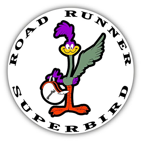 Road Runner Superbird Logo Auto Car Bumper Sticker Decal 5 X 5 Paradice
