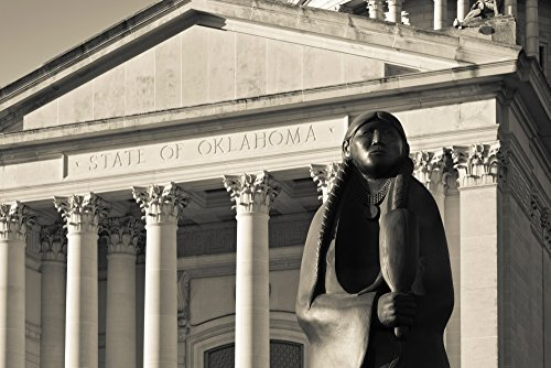 - Posterazzi Sculpture of Native American Poster Print State Capitol Building City Oklahoma USA, ((24 x 36)
