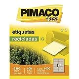 Etiqueta Carta 3182 Rec 100 Fls 33,9X101,6 Mm Cx.C/1400 Pimaco