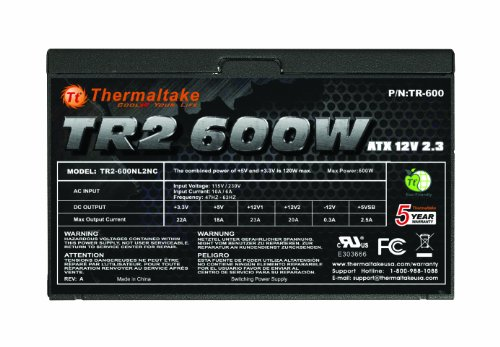 Thermaltake TR2 600W ATX 12 V2.3 Power Supply TR-600CUS by Thermaltake (Image #1)