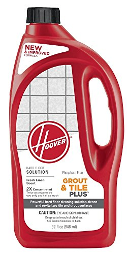 HOOVER FloorMate Grout & Tile Plus Hard Floor Cleaning Solution Formula, 32 oz, AH30435 (Best Grout Cleaning Machine)