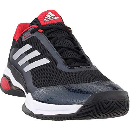 adidas Performance Men's Barricade Club Tennis Shoe, Black/Matte Silver/White, 10.5 M US