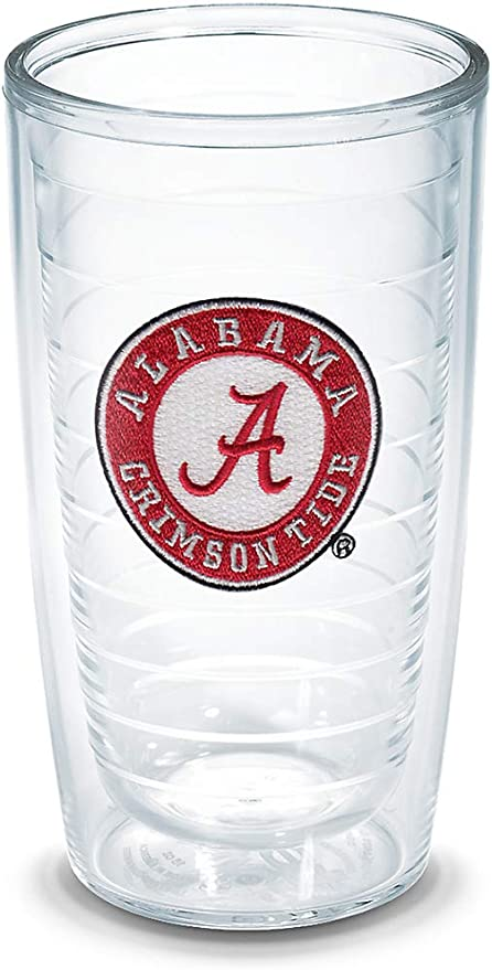 Tervis 1084192 Alabama University Text Emblem Individual Mug Clear 16 oz