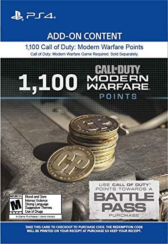 1,100 Call of Duty: Modern Warfare Points - PS4 [Digital Code]