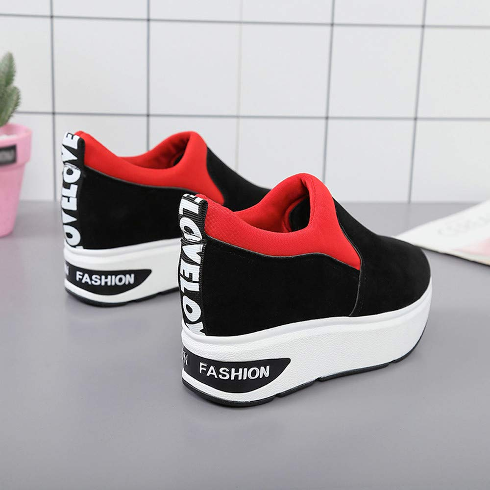 Claystyle Women Fashion Sneakers Sports Running Hiking Thick Bottom Platform Shoes(Red,US: 6.5) by Claystyle Shoes (Image #6)