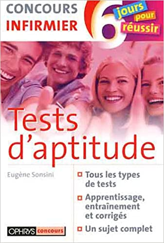 Tests d'aptitude - Concours Infirmier pdf ebook