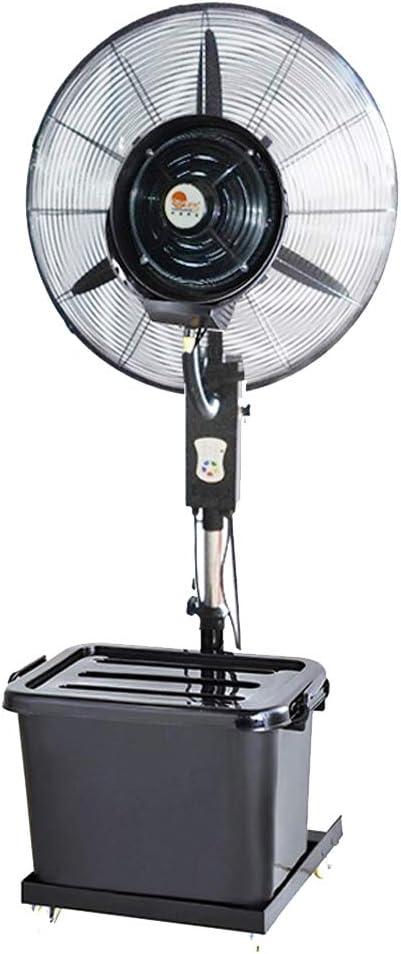 Ventiladores de Pedestal Ventilador oscilante con nebulizador de pulverización Permanente para Brisa Fresca para Interiores y al Aire Libre - Ventilador Industrial Grande - 3 velocidades de enfriami: Amazon.es: Hogar