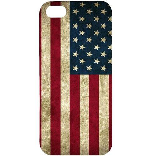 Casotec Vingate USA Flag Design Hard Back Case Cover for Apple iPhone 5 / 5S