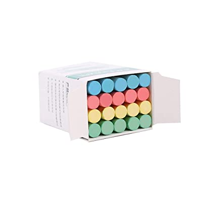 CGKUITER 20 PCS Dustless Colorful Sidewalk Chalk for Children Outdoor Side Walk Outside Driveway Colours Art Floor Chalks Nontoxic, Washable Tapered Chalks for Teachers and Schools, Multicolor: Toys & Games