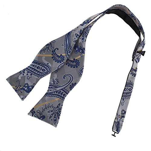 Woven Poly Mens Tie (DBA7B08D Grey Thank You Gift Patterned Self-tied Bowtie Buy For Birthday Microfiber Friendship Woven Poly Self Bow Tie By Dan Smith)