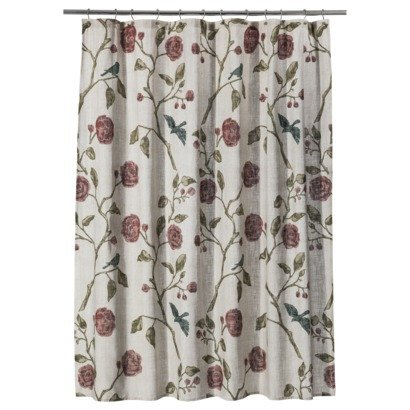 Threshold Floral Roses Fabric Shower Curtain 72quot X