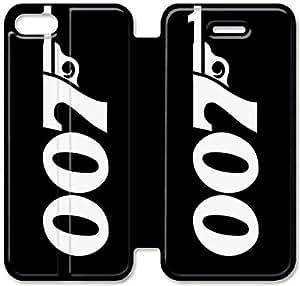 Gemma Ehritz® Only Authorized Official Brand Boutique Shop,Funda iPhone Leather Case 5C Funda , caja de cuero de la cubierta del estilo del tirón genuino con el soporte Característica Diseño C301LEO James Bond D677PKT para las muchachas adolescentes y los hombres
