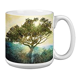 Tree of Time Extra Large Mug, 20-Ounce Jumbo Ceramic Coffee Mug Cup, Nature Themed Elena Ray Art, Gift for Coffee Lovers (XM63151) Tree-Free Greetings