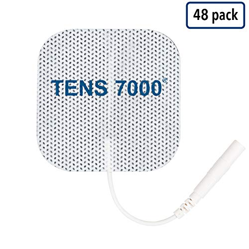 """TENS 7000 Official TENS Unit Pads - Premium Quality OTC TENS Pads, 2"""" X 2"""" - Compatible with Most TENS Machines, Replacement Electrodes Value Pack, 48 Count"""