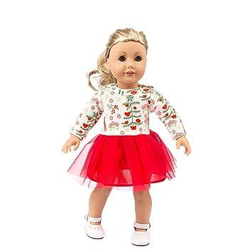 b8f0b8a6a9d3b kingko Vêtement de Poupée Robe Floral Multicolore Accessoires pour 18''  Fille américaine Dolls Jouet