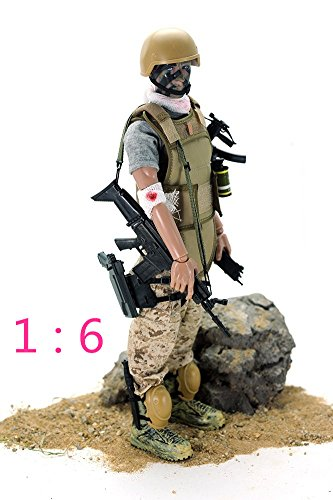 dier Action Figures Soldiers Toys 1:6 Scale Boys Children PlaySets (wounded soldier) (12' Gi Joe Action Figure)