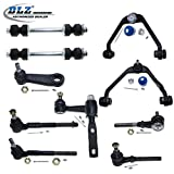 DLZ 10 Pcs Front Suspension Kit-2 Upper Control Arm & Ball Joint, 2 Inner 2 Outer Tie Rod End, 2 Sway Bar, 1 Idler Arm, 1 Pitman Arm for (RWD/2WD) 1997-2003 Ford F-150, 1998-1999 Ford F-250