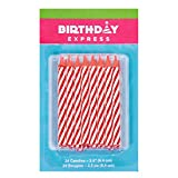 Jack2400 Red Stripe Birthday Candles (24)
