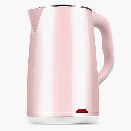 KKY-ENTER Calentador eléctrico casero rosado simple de la caldera del vidrio de la caldera