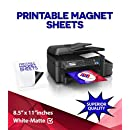 Printable Magnet Sheets, 8.5 X 11 Inches, White, 25 sheets - 15 Mil thick!
