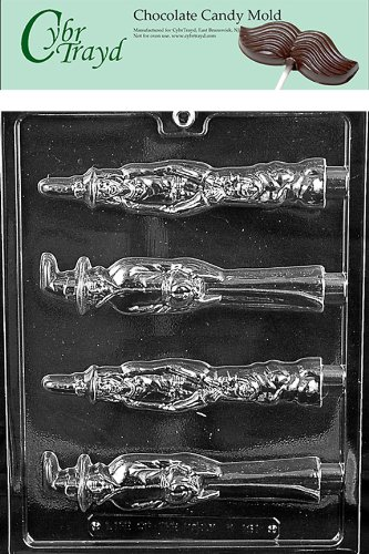 [Cybrtrayd H161 Halloween Chocolate Candy Mold, Scary Witch Pretzel Pop] (Scary Halloween Witches)