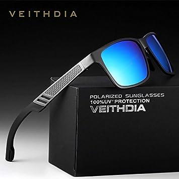 Izusa (TM) revestimiento de magnesio de aluminio gafas de sol polarizadas deportes hombres conducción