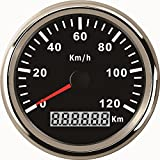 ELING Waterproof KM GPS Speedometer Odometer 120KM/H for Car Motorcycle Tractor Truck with Backlight 85mm 12V/24V