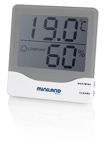 Miniland Ambi Care - Termómetro e higrómetro ambiental