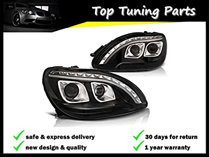 Amazon Com New Headlights Set Projector Lpme97 Mercedes Benz W220 S
