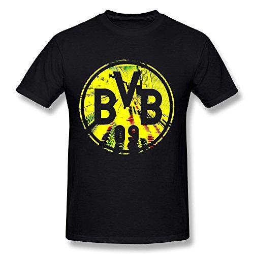 Losnger Men's FC Borussia Dortmund Football Logo T Shirt L